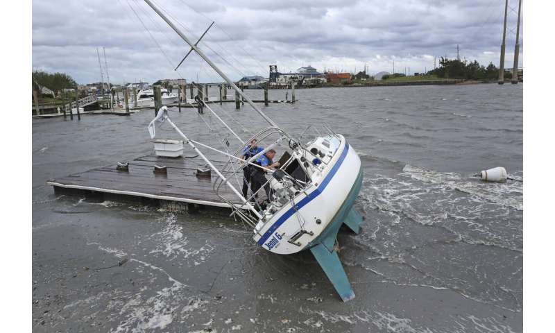 Stranded North Carolinians take stock of Dorian's damage