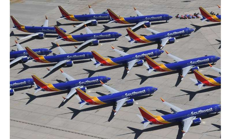 The global fleet of Boeing 737 MAX planes has been grounded after two deadly crashes, including this group of Southwest Airlines