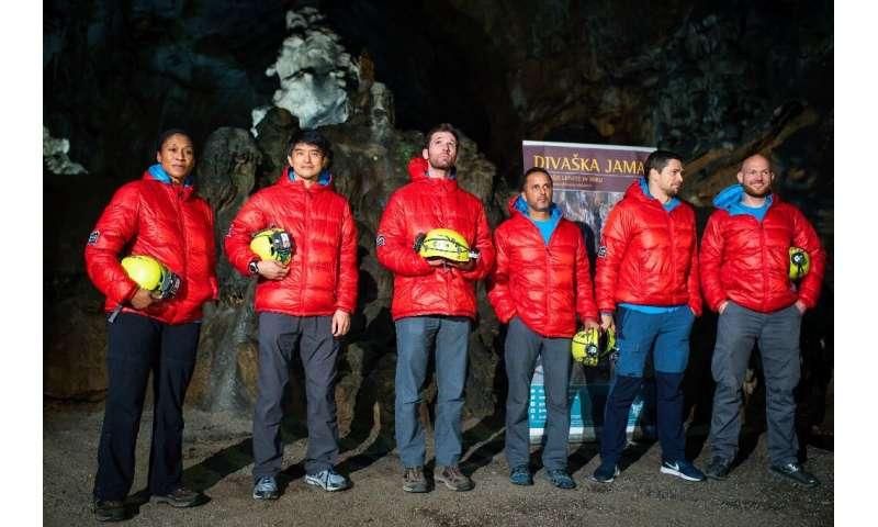 The team spent six full days underground