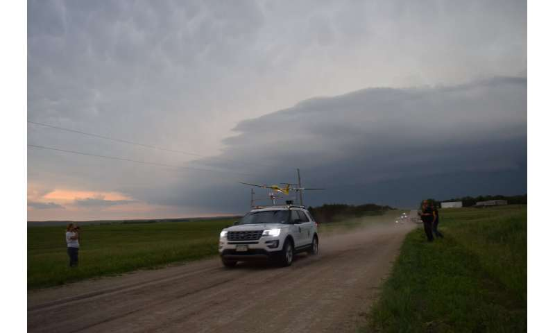 Tracking a supercell thunderstorm across the Great Plains