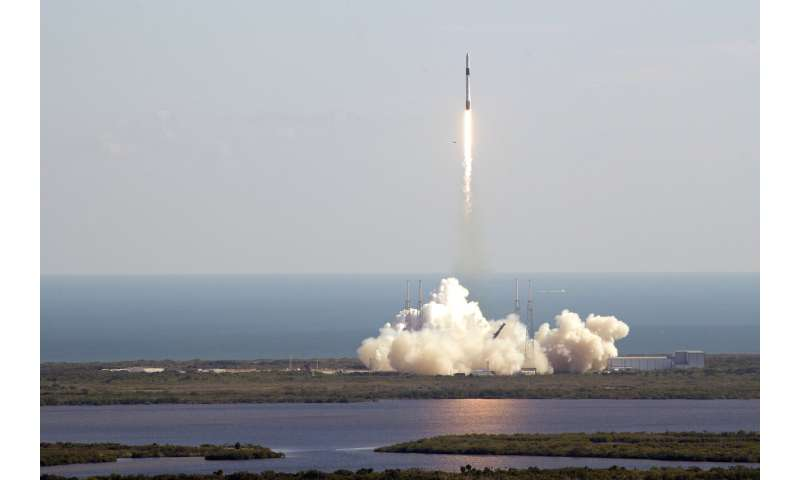 SpaceX launches beer malt, caring robot and 'mighty mice'