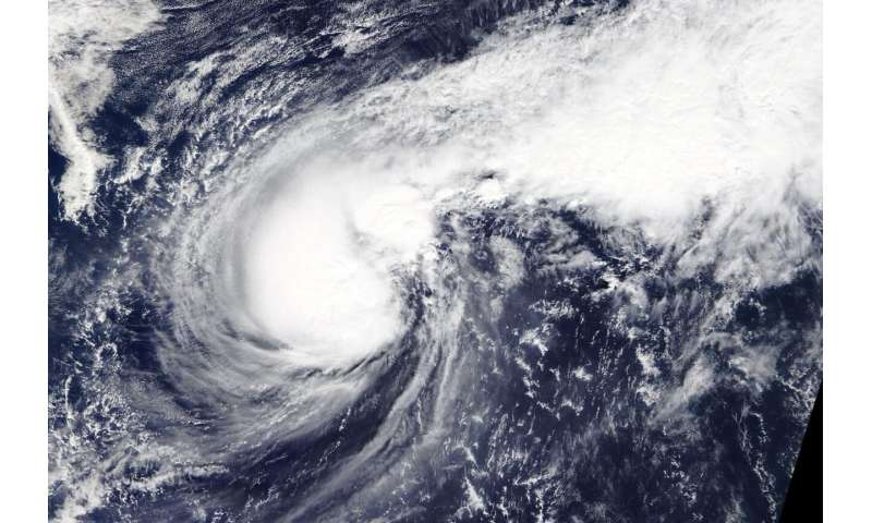 NASA satellite imagery finds Typhoon Halong resembles a boxing glove