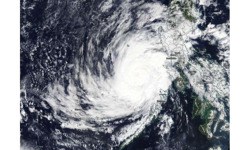 NASA satellite tracks tropical storm Phanfone into the South China Sea
