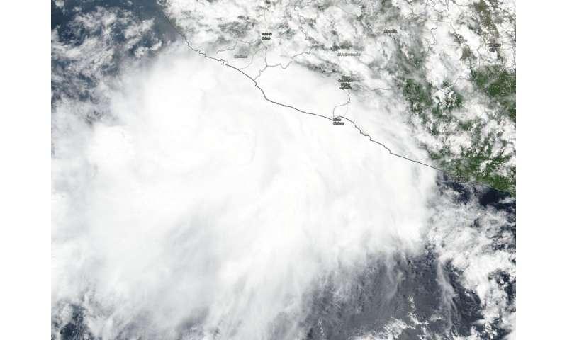 NASA-NOAA satellite finds Lorena's strong storms lashing Mexico