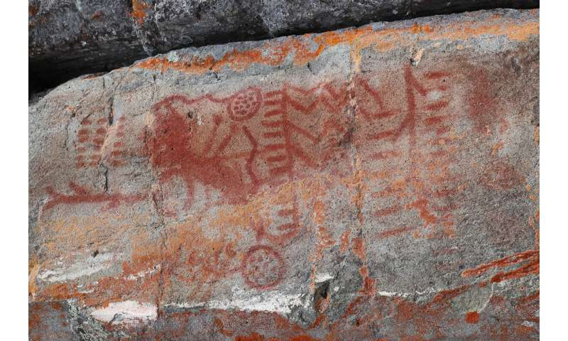 Scientists use modern technology to understand how ochre paint was created in pictographs