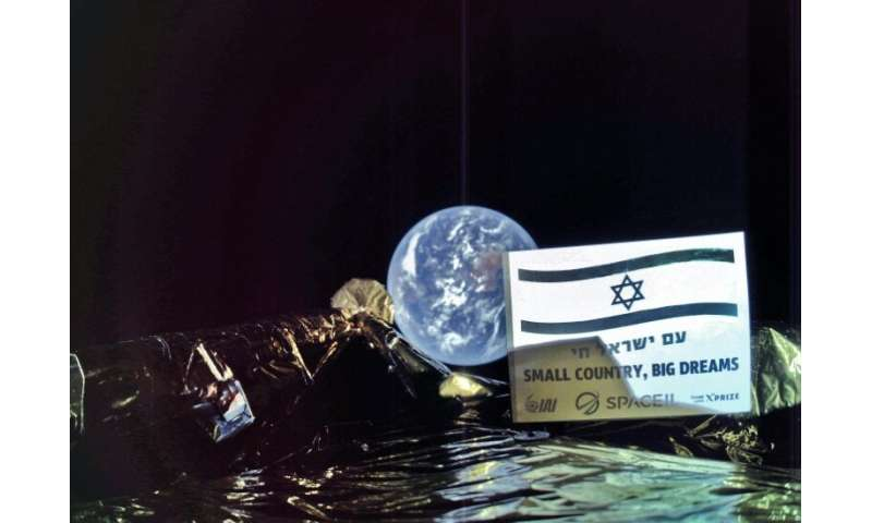 A handout picture released by SpaceIL and Israel Aerospace Industries (IAI) on March 5, 2019, shows a picture taken by the camer
