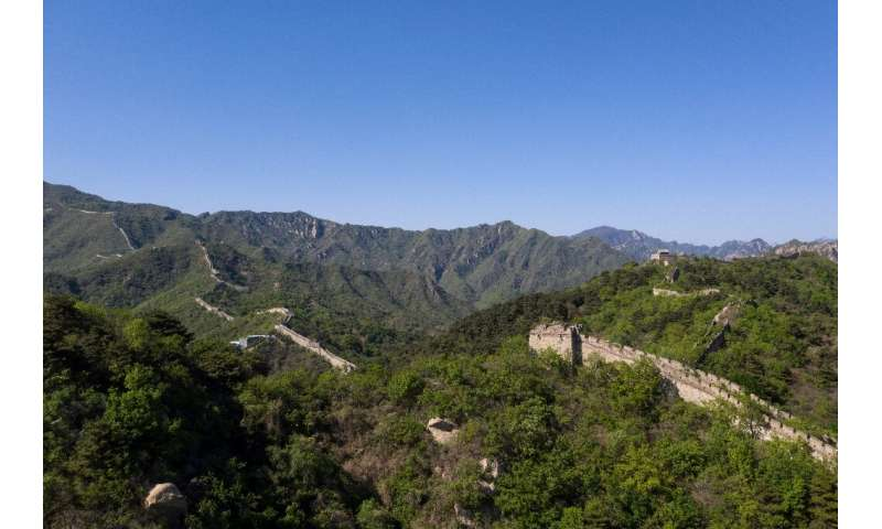 Construction of the Great Wall first began in the third century BC and continued for centuries. Nearly 6,300 kilometres, includi
