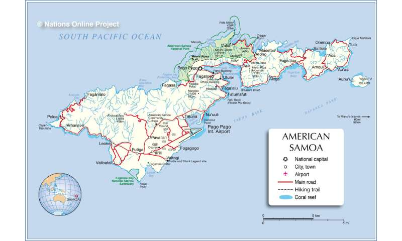 Earthquake in 2009 intensified American Samoa's rising sea levels
