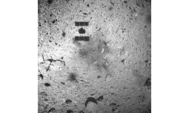 Japan spacecraft drops explosive on asteroid to make crater