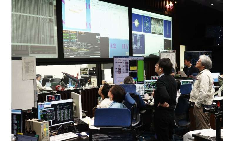 Mission control has been keeping a close eye on the probe 300 million kilometres away