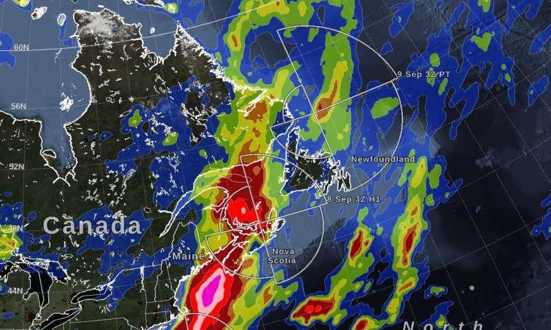 NASA estimates Hurricane Dorian's massive rainfall track