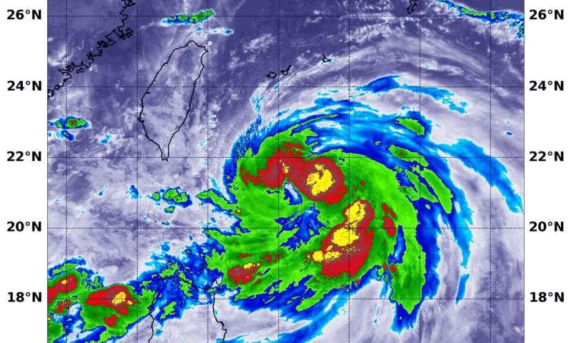 NASA infrared eye analyzes typhoon Lingling