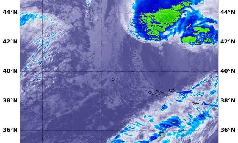 NASA tracking Extra-Tropical Storm Sebastien towards the UK