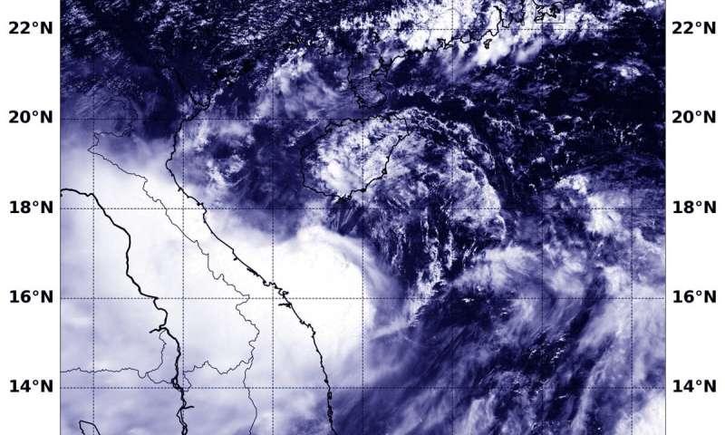 NASA tracks Tropical Storm Podul's landfall approach to Vietnam