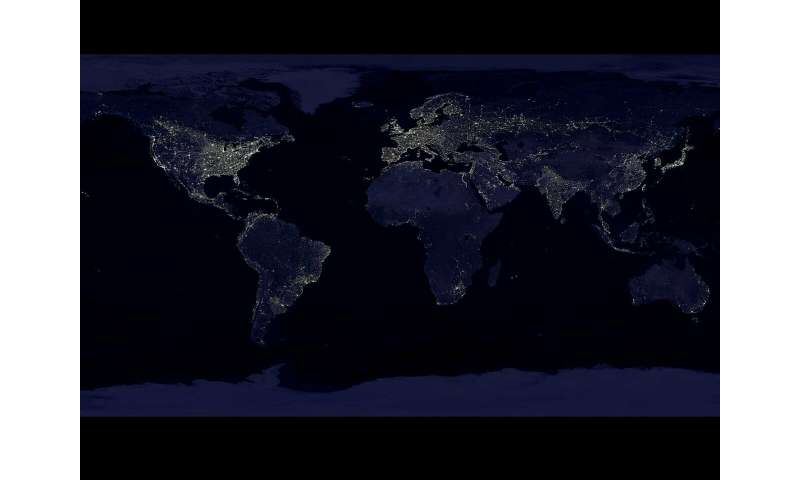 'Radiance Light Trends' shows changes in Earth's light emissions