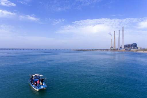 Sharks drawn to warm waters by Israeli coastal power plant