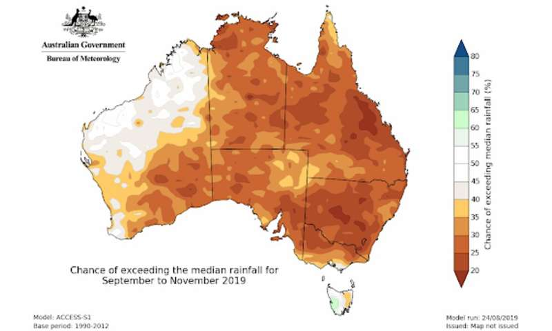 The Australian winter was dry, the spring will likely be dry  – here's why