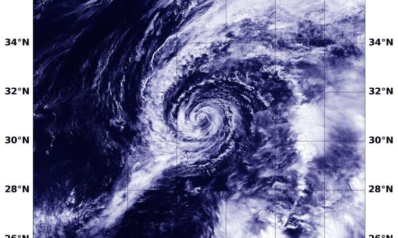 NASA-NOAA satellite finds Jerry now a post-tropical storm