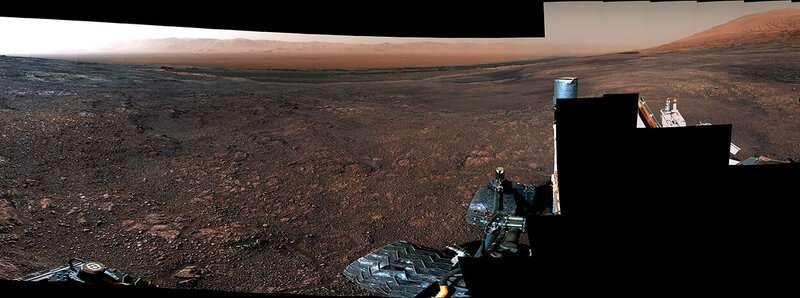 360 Video: Curiosity rover departs Vera Rubin Ridge
