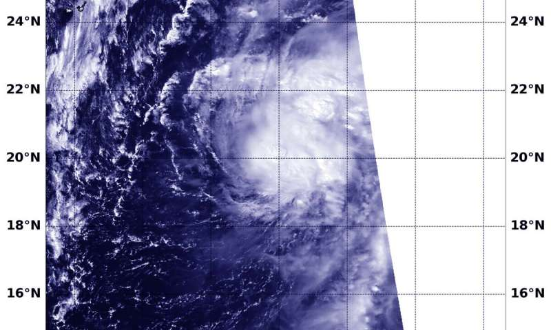 NASA-NOAA satellite finds Tropical Storm Neoguri consolidating