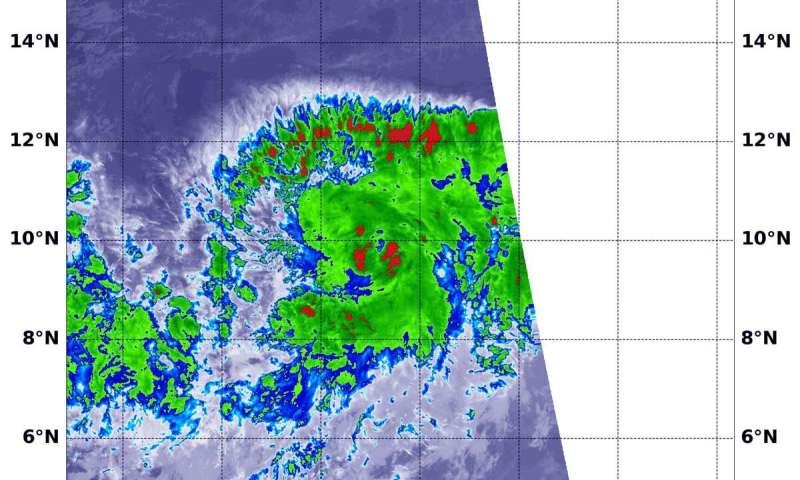 NASA-NOAA satellite observes development of Tropical Storm Octave