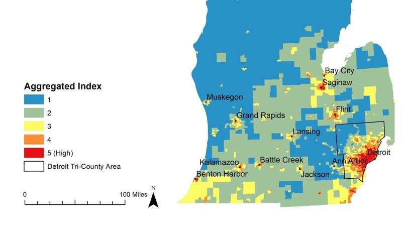 Maps highlight Michigan cities, groups that will bear brunt ...