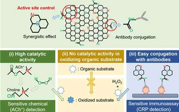 Nanomaterials mimicking natural enzymes with superior catalytic activity and selectivity for detecting acetylcholine
