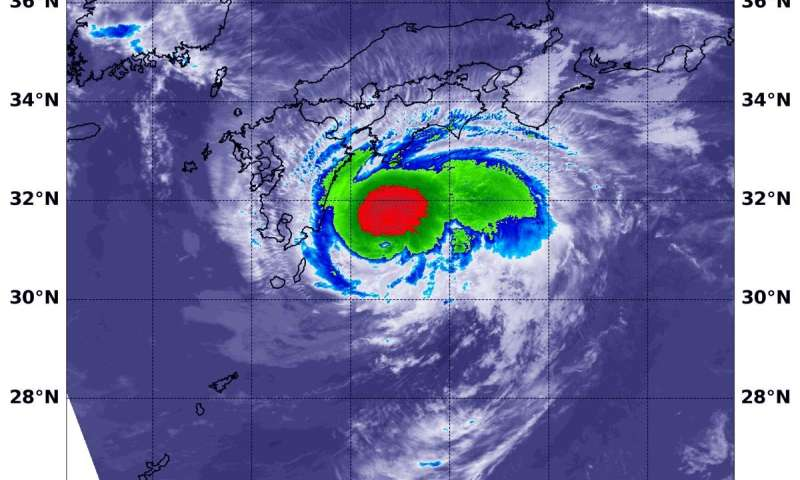 NASA Catches tropical storm Francisco's approach to landfall in southern Japan