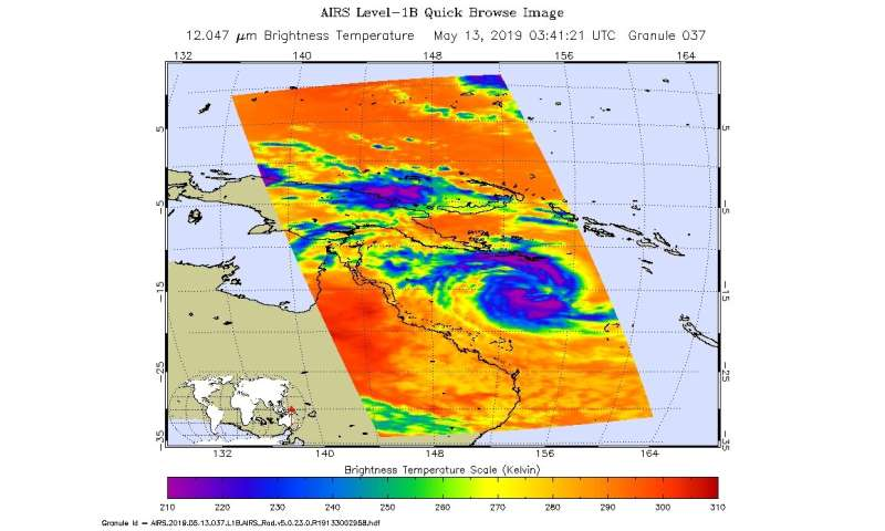 NASA finds tropical cyclone Ann over the great barrier reef