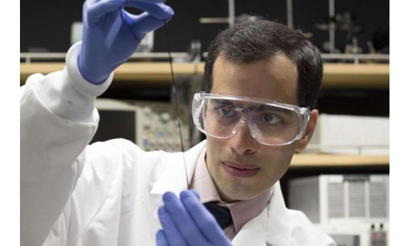 UBC researchers create washable sensor that can be woven into materials