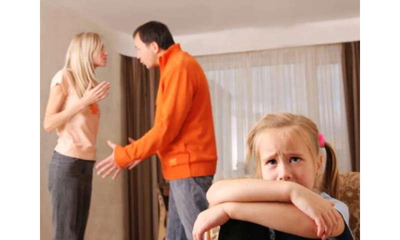 What happens to the children when parents fight?