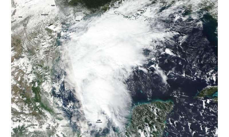 NASA-NOAA satellite catches development of gulf Tropical Depression 17