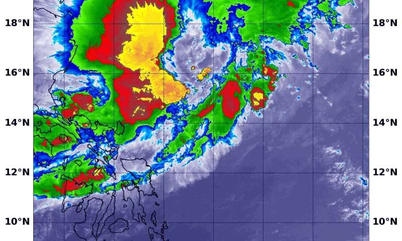 NASA-NOAA satellite finds displaced power in Tropical Cyclone Kalmaegi
