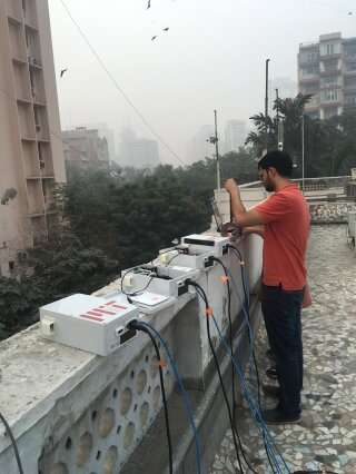 Researchers employ low-cost sensors to detect and track the origins of air pollutants in India
