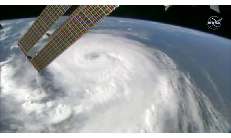 Hurricane Dorian as viewed from the International Space Station