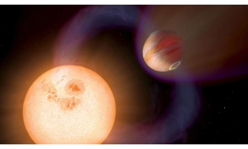 Astronomers make first calculations of magnetic activity in 'hot Jupiter' exoplanets