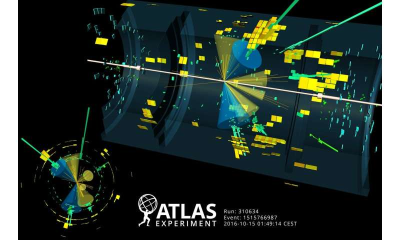 **ATLAS Experiment measures Higgs boson coupling to top quark in diphoton channel with full Run 2 dataset