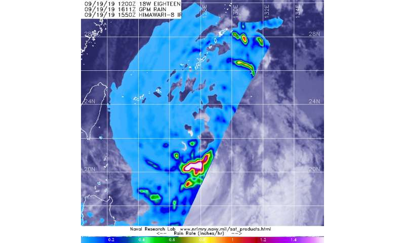 NASA analyzes rainfall rates in new Tropical Storm Tapah