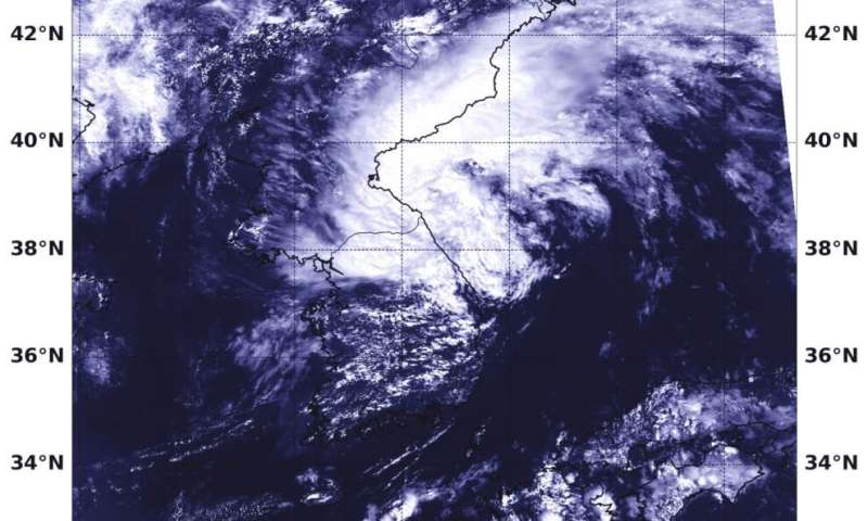 NASA catches transitioning Tropical Storm Francisco near Korean Peninsula
