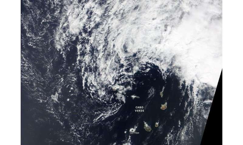NASA's Terra satellite catches end of Atlantic Tropical Depression 15