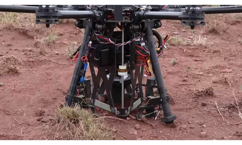 Forget pills and pizza. These drones are landing, drilling holes, and taking off again