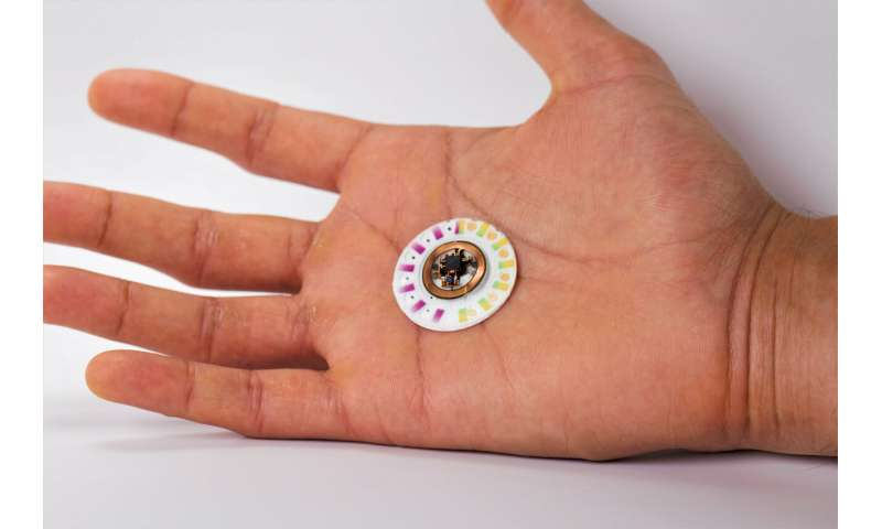 **Skin patch biomarker sensor doesn't need batteries