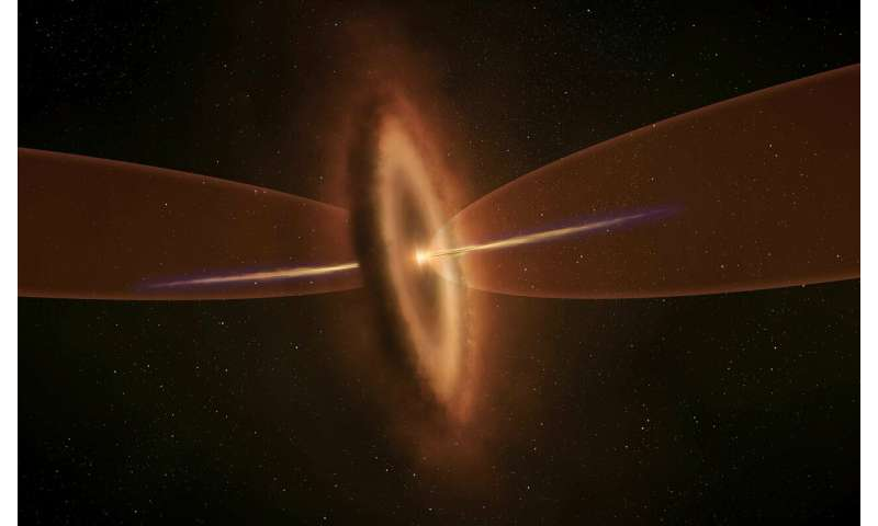 ALMA differentiates two birth cries from a single star—strong evidence of independent origins for two gas flows