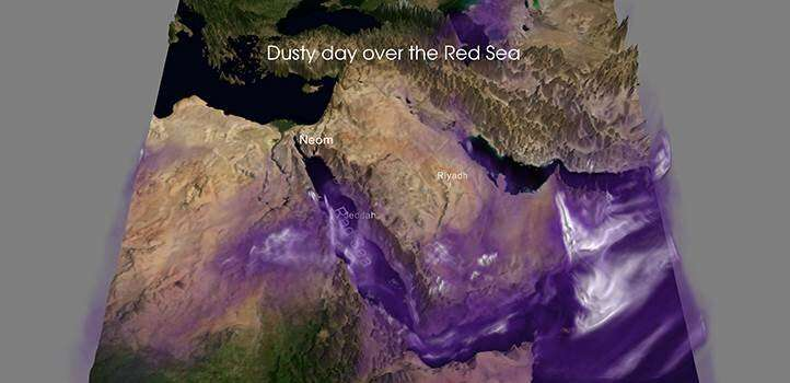 West Africa warms but airborne dust keeps the Red Sea cool