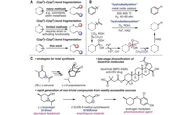 A more efficient way to cleave pendant olefins from terpenes and similar compounds