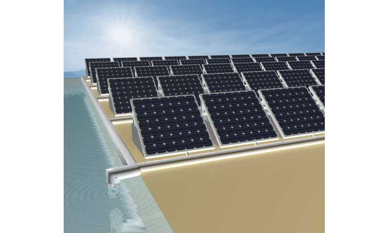 Capturing heat wasted in solar panels for use in distilling clean drinking water