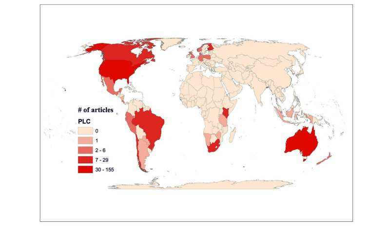 Private land conservation research underrepresents geographical regions and stakeholders