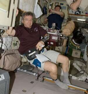 Astronauts less likely to faint on Earth if they exercise in space