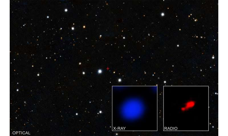 Evidence found for cloaked black hole in early universe
