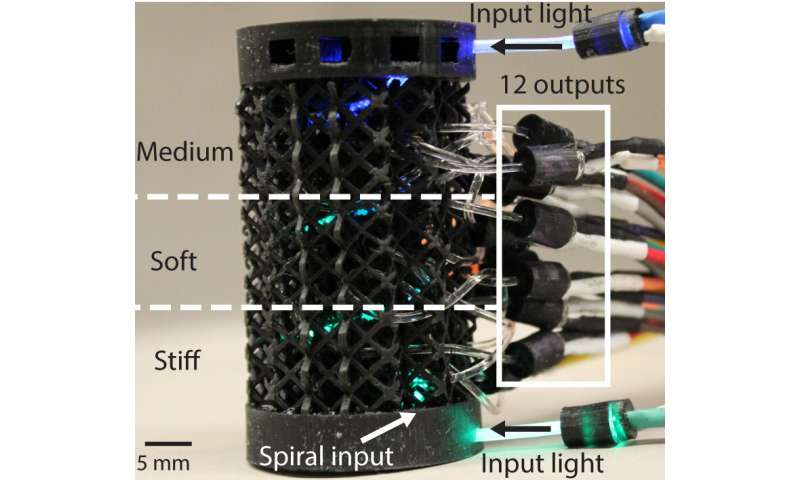 Nerve-like 'optical lace' gives robots a human touch